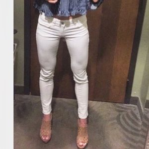 White regular rise AE jeggings